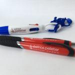 Impression sur stylos